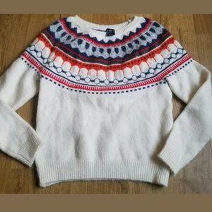 Gap Off White Wool blend Sweater  Size Medium